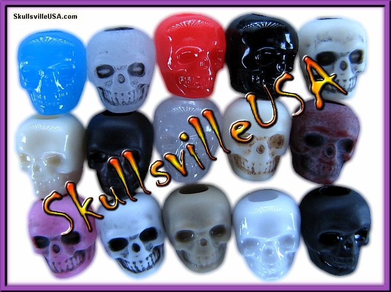 anarchy skull bead mix - close up