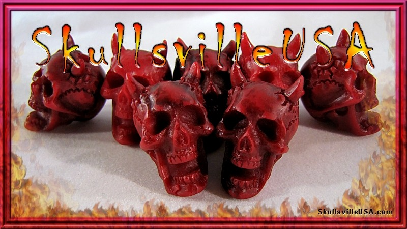diablo rojo resin skull beads