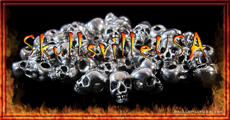 laughing lummox skull beads