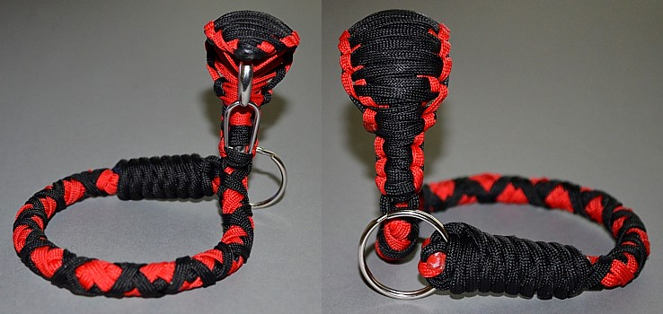 paracord snake key chain