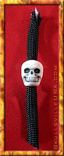 skull bead on paracord