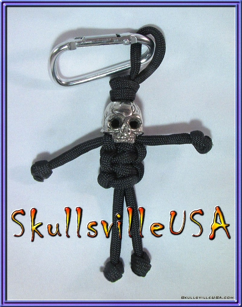 skull bead end cap paracord buddy