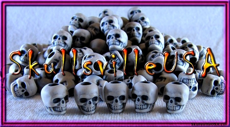 toasted bone acrylic skull beads