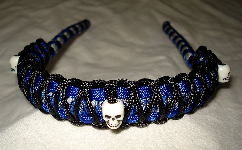 skull bead paracord bow slings
