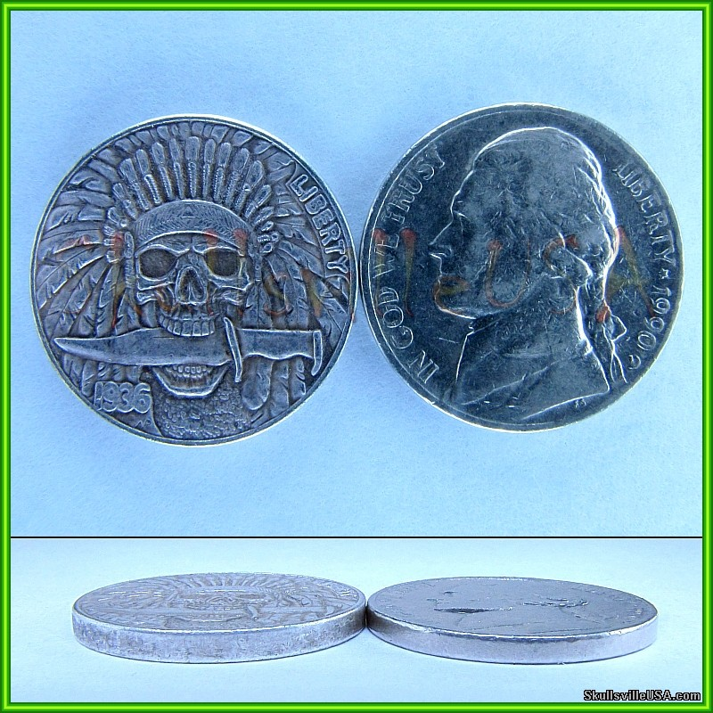 1936 hobo buffalo nickel with indian head compare
