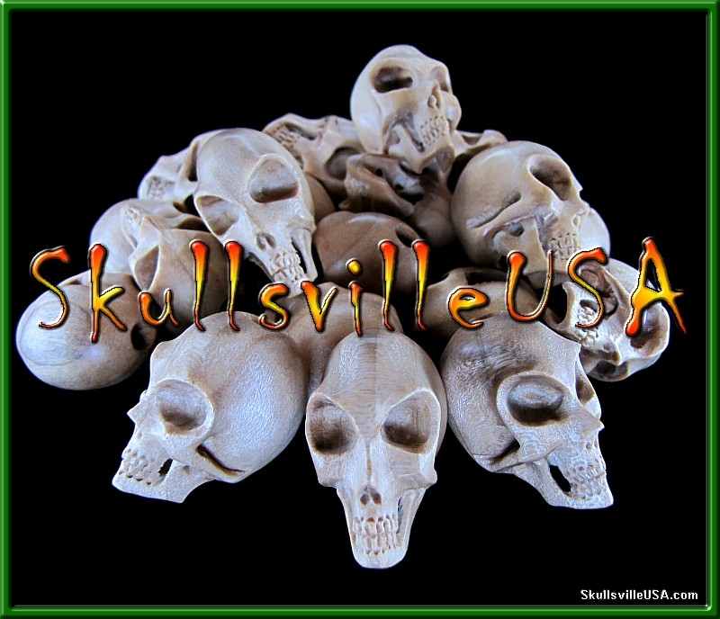 alien crocodile wood skull beads