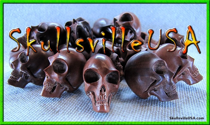 alien sabo wood skull beads