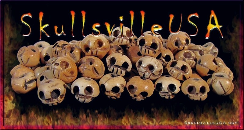 big fathead tibetan bone skull beads