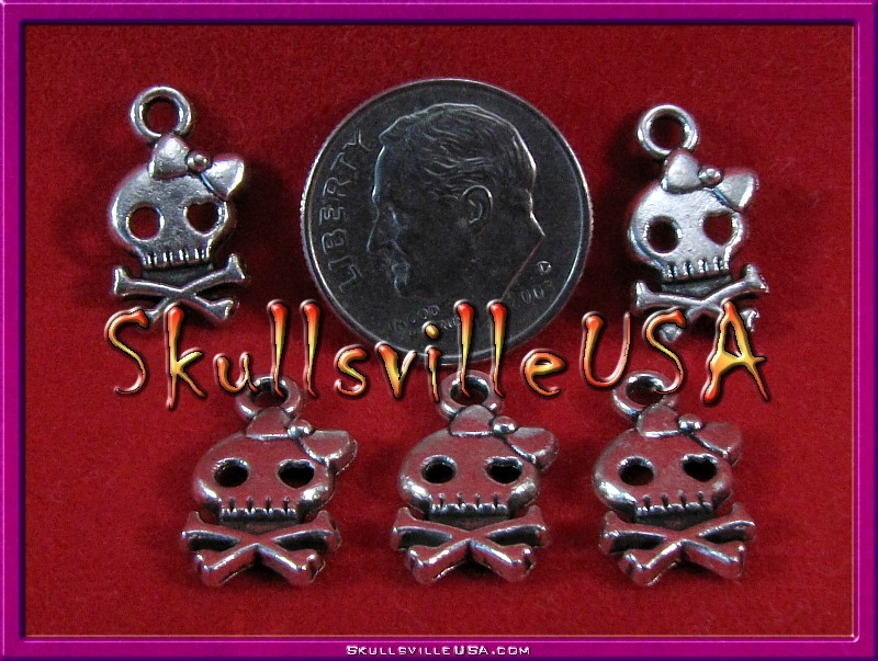 girly skull charms