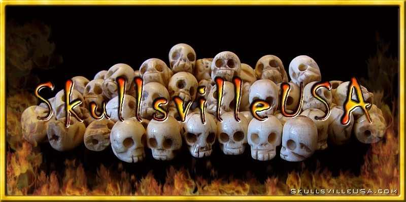 miniature buffalo bone skull beads
