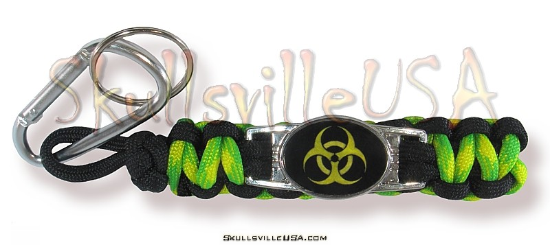 bio hazard paracord key chain