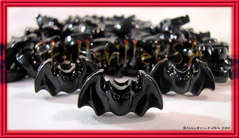 acrylic black bat beads