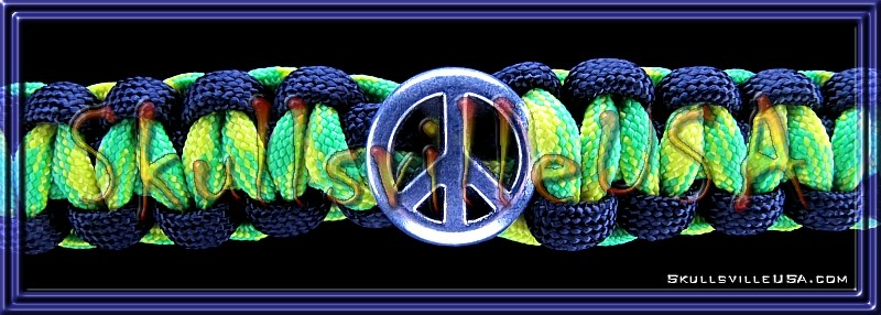 peace slider paracord bracelet