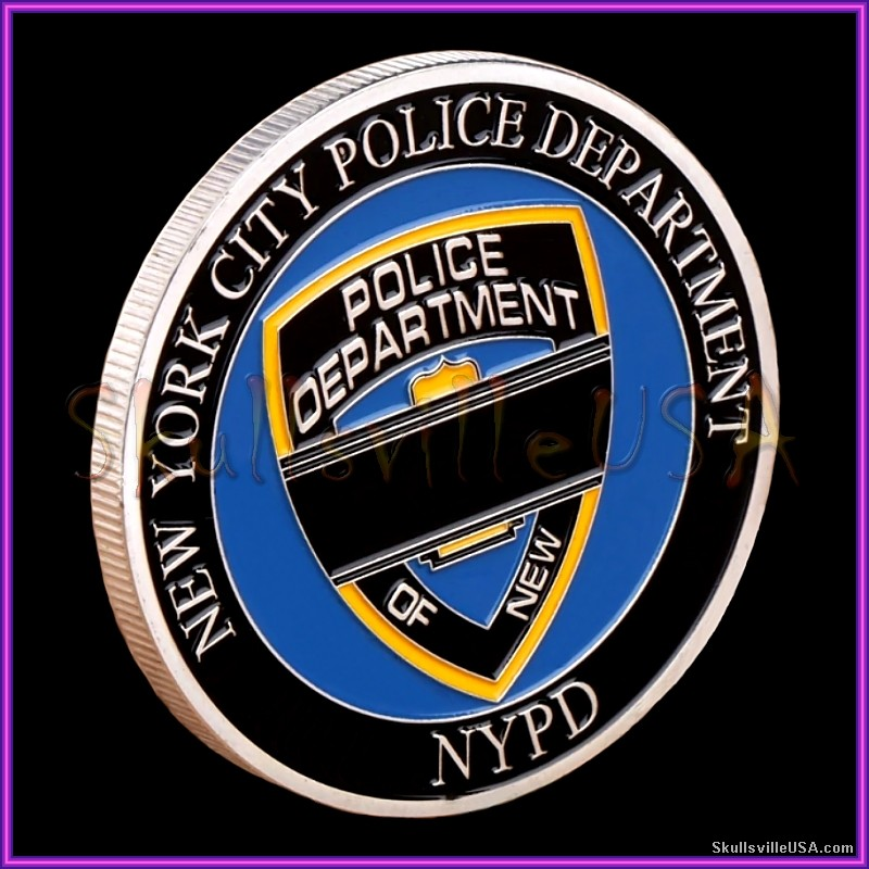 blue lives matter nypd challenge coin