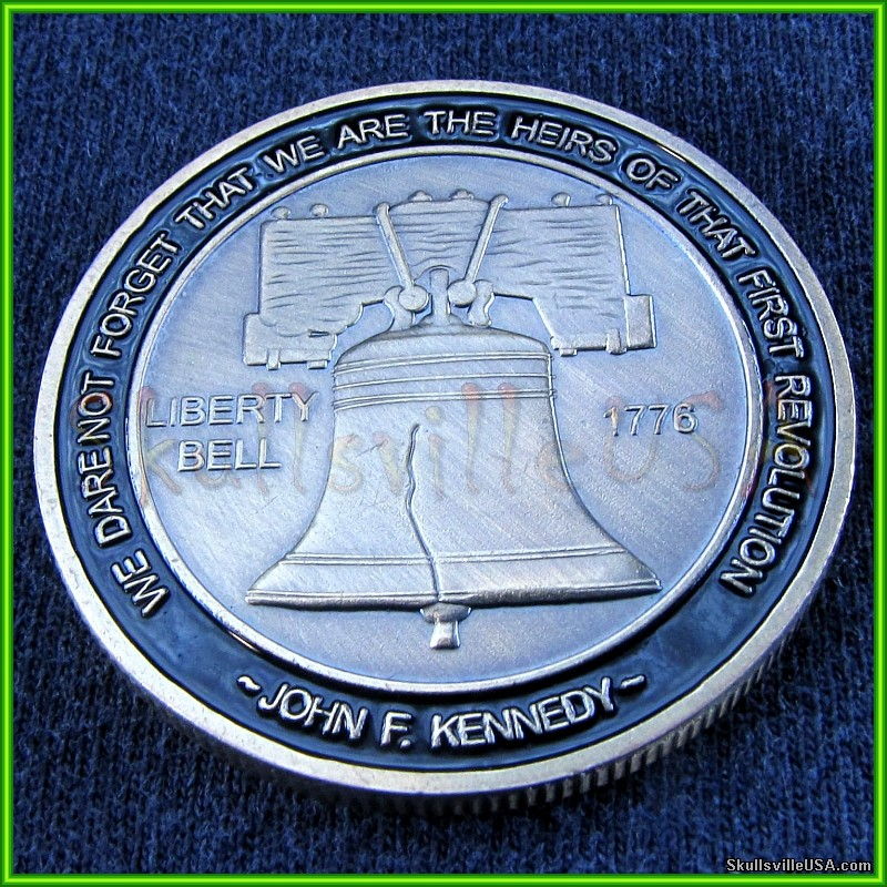 don't tread on me challenge coin - liberty bell