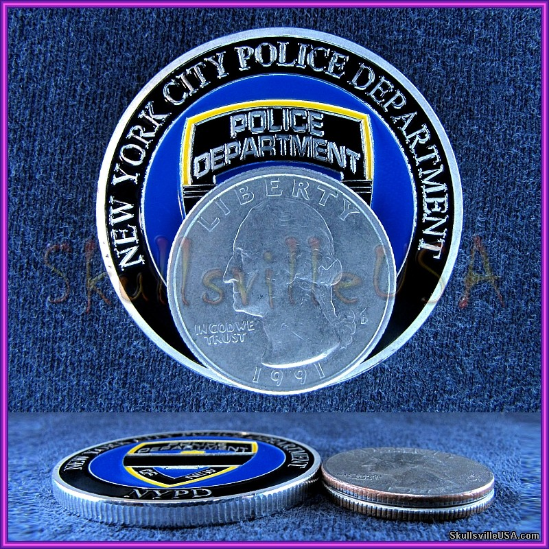 blue lives matter nypd challenge coin size