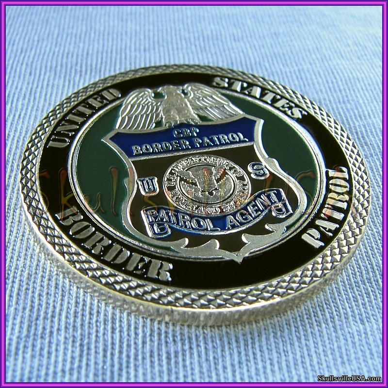 border patrol - homeland security - challenge coin