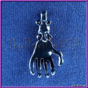 skull skeleton hand pendant - back side